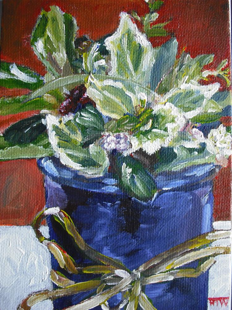 """Mothering Sunday Posy"" original fine art by Heather Whiting"
