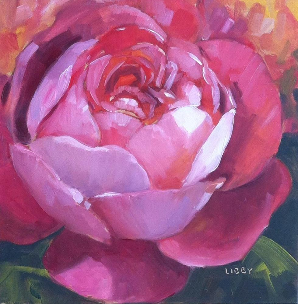 """Rose Alone"" original fine art by Libby Anderson"