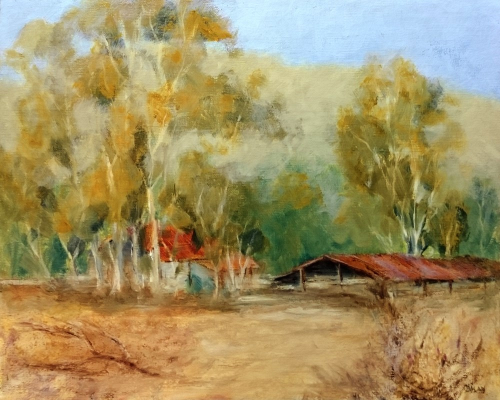 """Valley Of The Moon Ranch Plein Air"" original fine art by Dalan Wells"