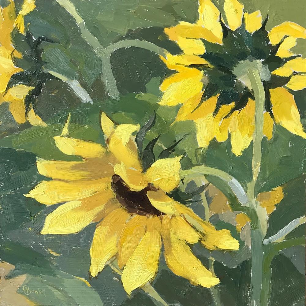 """Sunflowers"" original fine art by Clare Bowen"