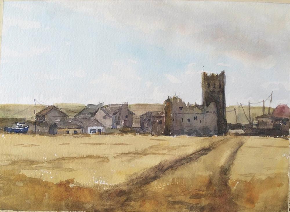 """Slade Castle, County Wexford"" original fine art by Katharine Engh"