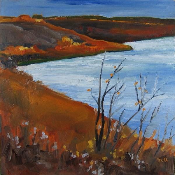 """Stark Day On The South Saskatchewan"" original fine art by Nicki Ault"