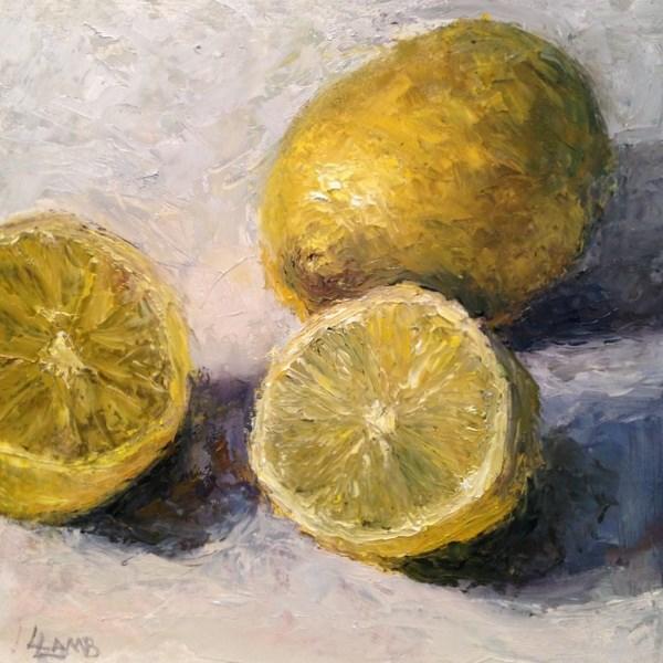 """Lemons Study"" original fine art by Lori L. Lamb"