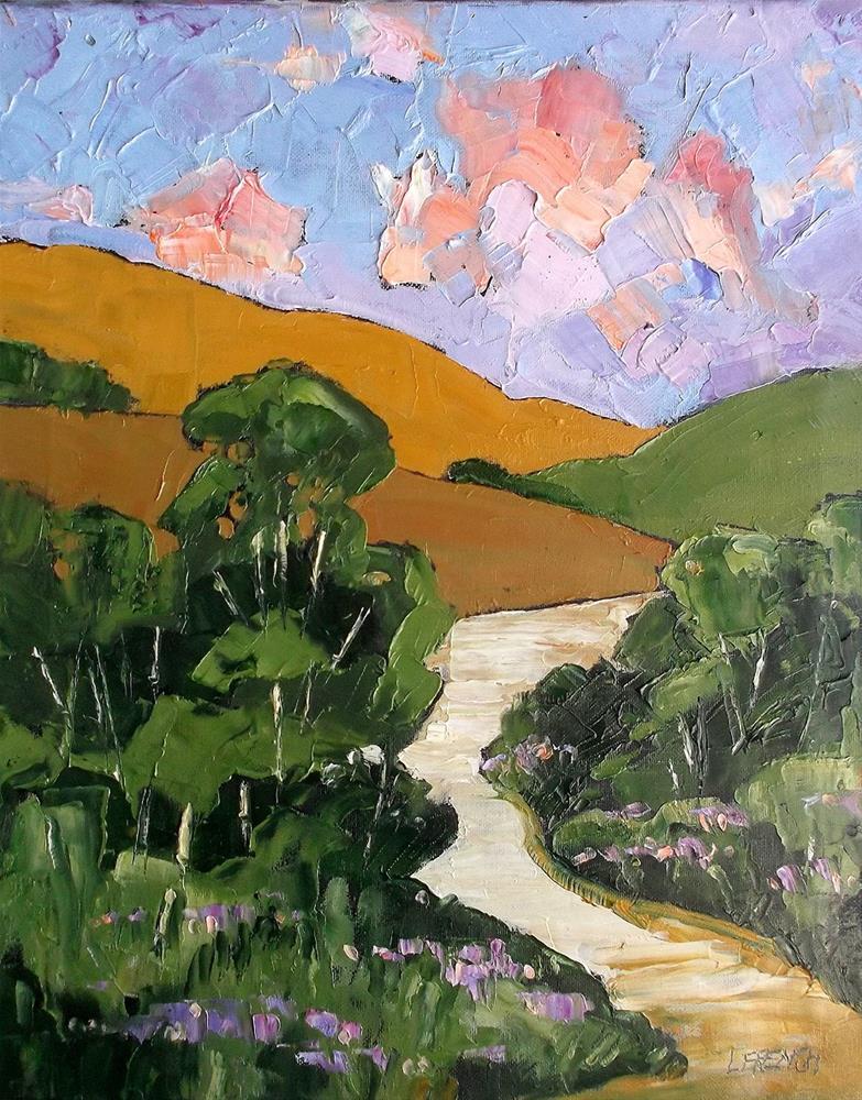 """Eucalyptus Canyon Trail"" original fine art by lynne french"