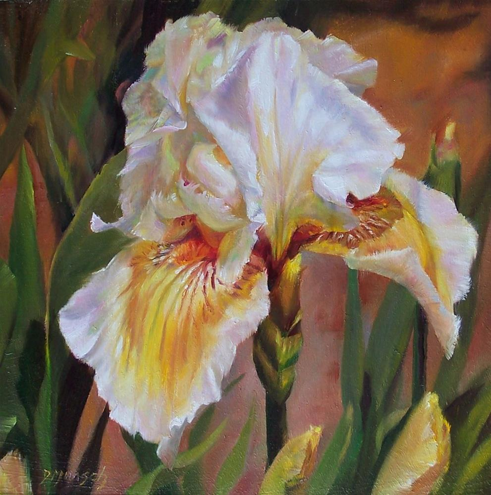 """Ruffled Iris"" original fine art by Donna Munsch"