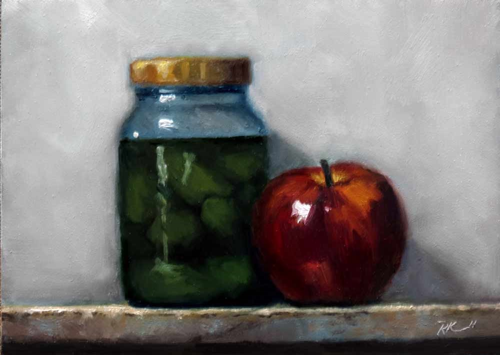 """Apple and Pickles"" original fine art by Bob Kimball"