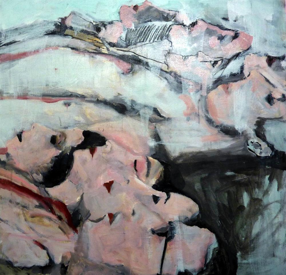 """""""Nebeneinander liegen /  are adjacent"""" original fine art by Mila Plaickner"""