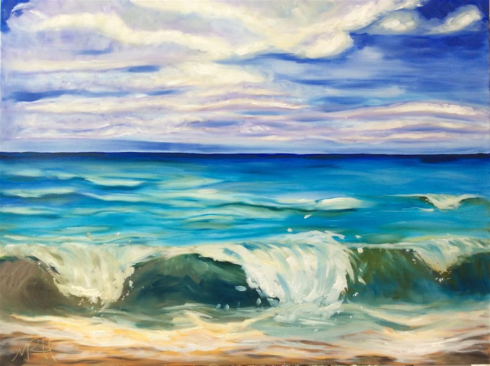 """Soothing Shore"" original fine art by Molly Rohrscheib Hathaway"