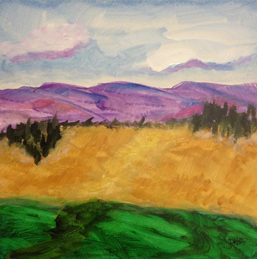 """""""Beside the Highway"""" original fine art by Dotty  Seiter"""