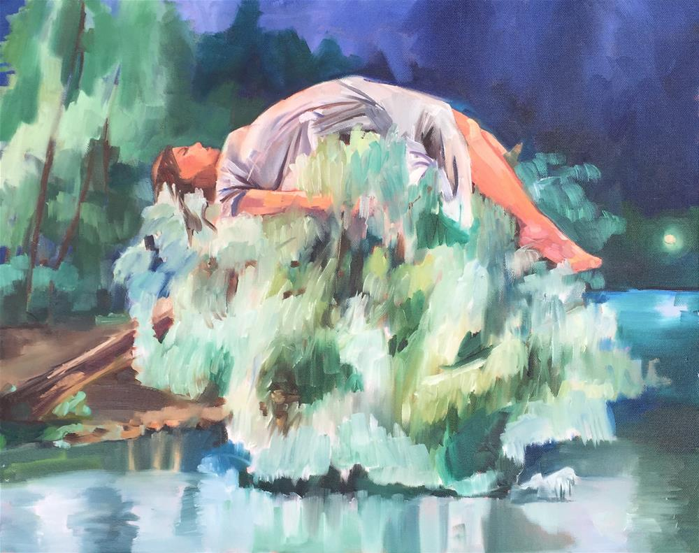 """Sleeping Willow"" original fine art by Jessie Dodington"