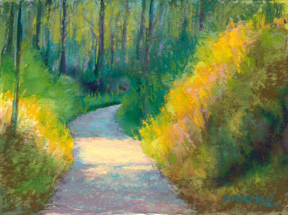 """Park Trail #27"" original fine art by Rita Kirkman"