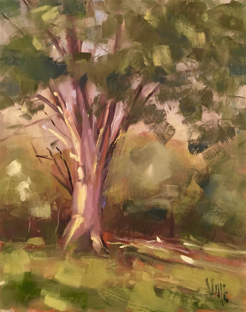 """#327 Tree Time"" original fine art by Patty Voje"