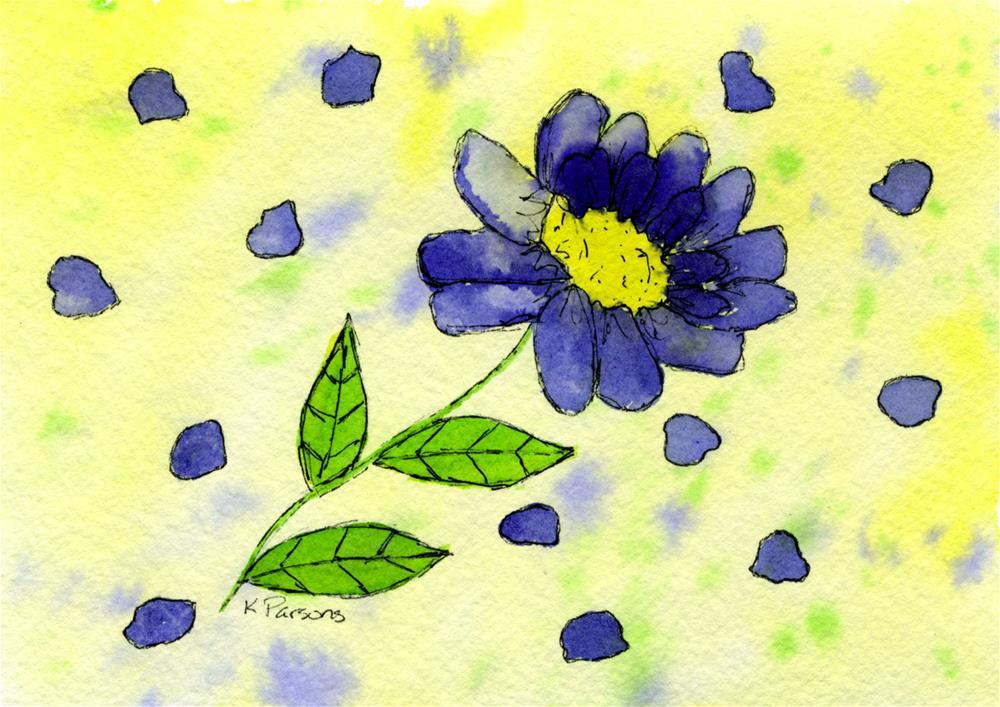 """Petal Around"" original fine art by Kali Parsons"