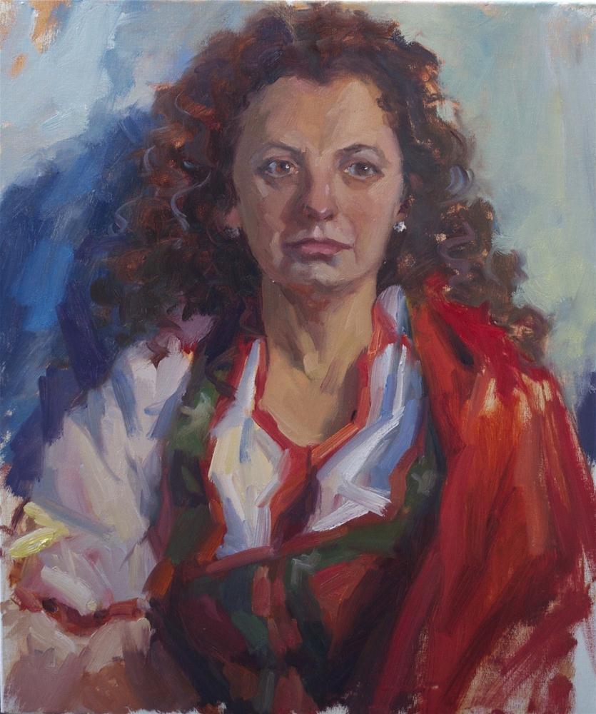 """Gypsy - Portret of Elena , 24x20 oil on linen"" original fine art by Emiliya Lane"