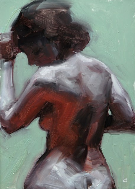 """Grey Nude 1"" original fine art by John Larriva"