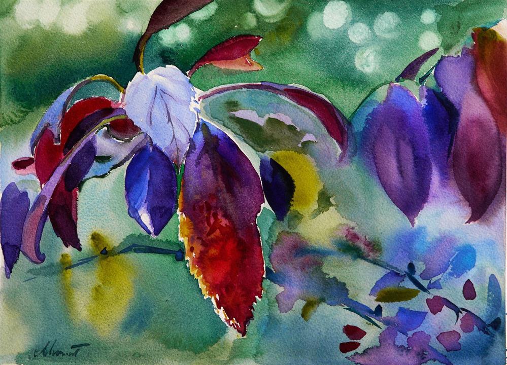 """purple leafs second version"" original fine art by Beata Musial-Tomaszewska"