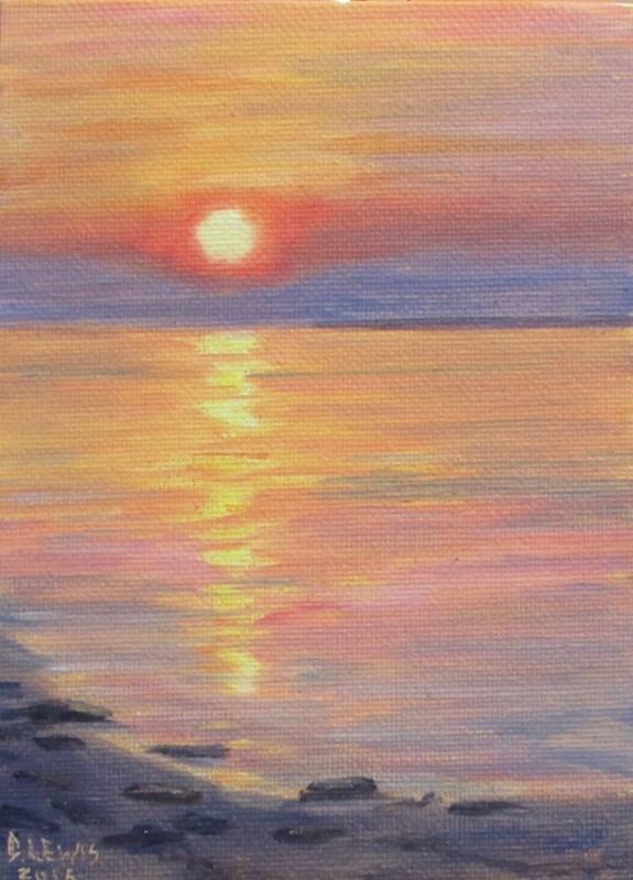 """Sunset"" original fine art by Christine Lewis"