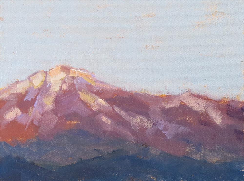 """Pikes Peak at Sunrise"" original fine art by Pam Holnback"