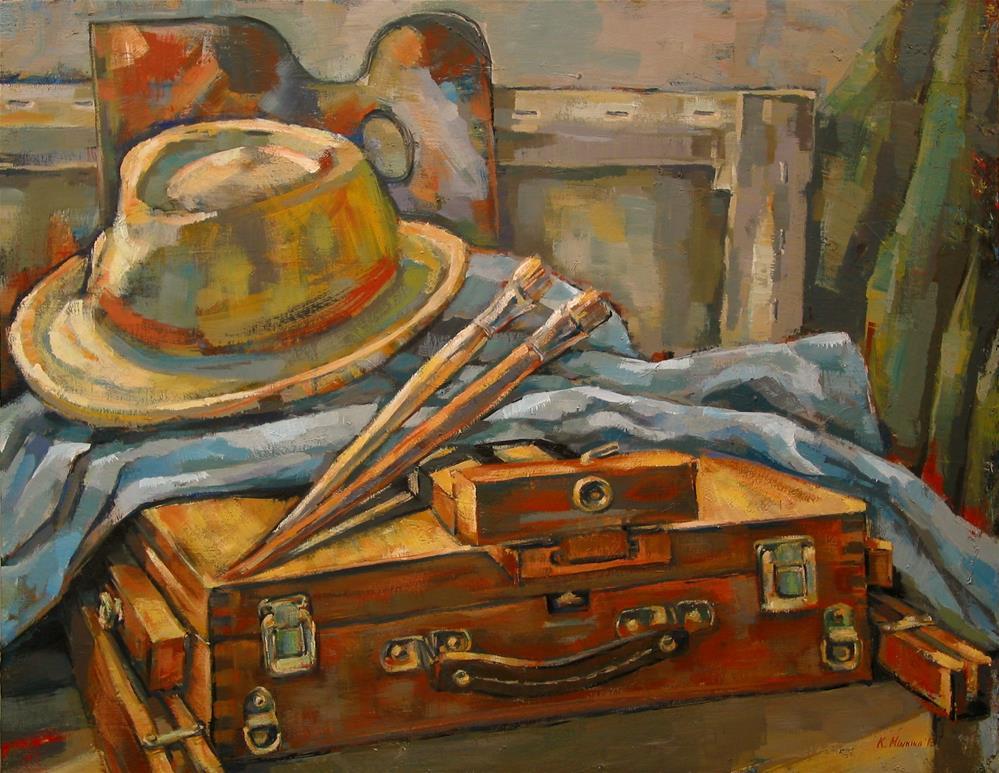 """""""Tools of the Trade"""" original fine art by Katya Minkina"""