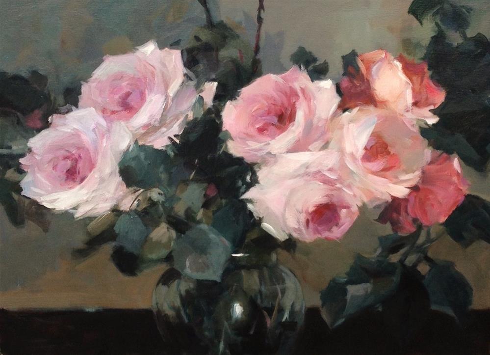 """Spring roses"" original fine art by Parastoo Ganjei"