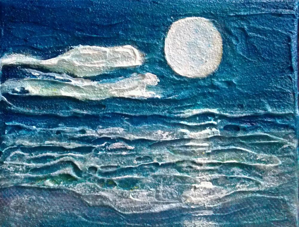 """""""Moonlit Mini"""" original fine art by D. Renee Wilson"""