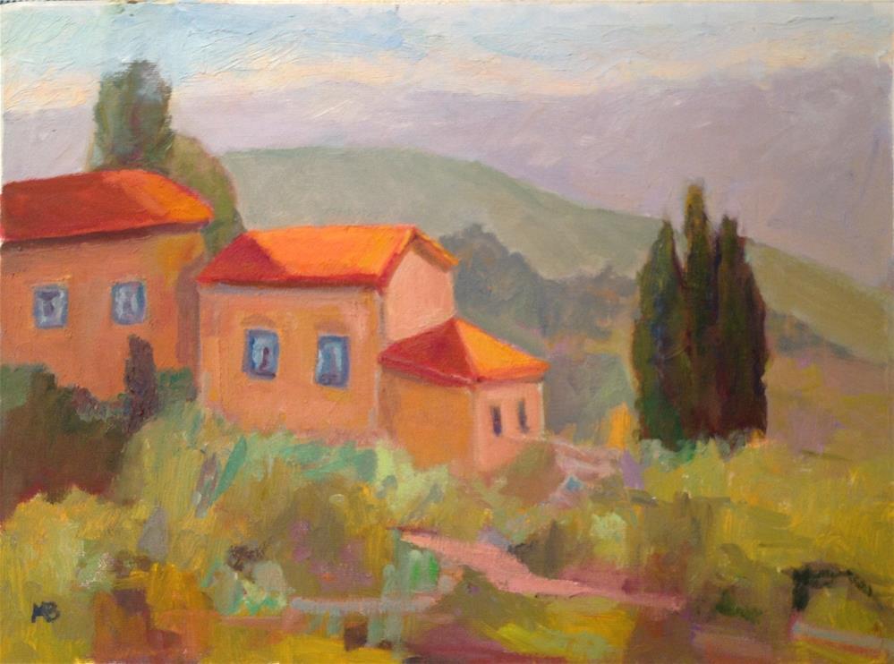 """Montefugoni , Italy"" original fine art by Marcia Bergtholdt"