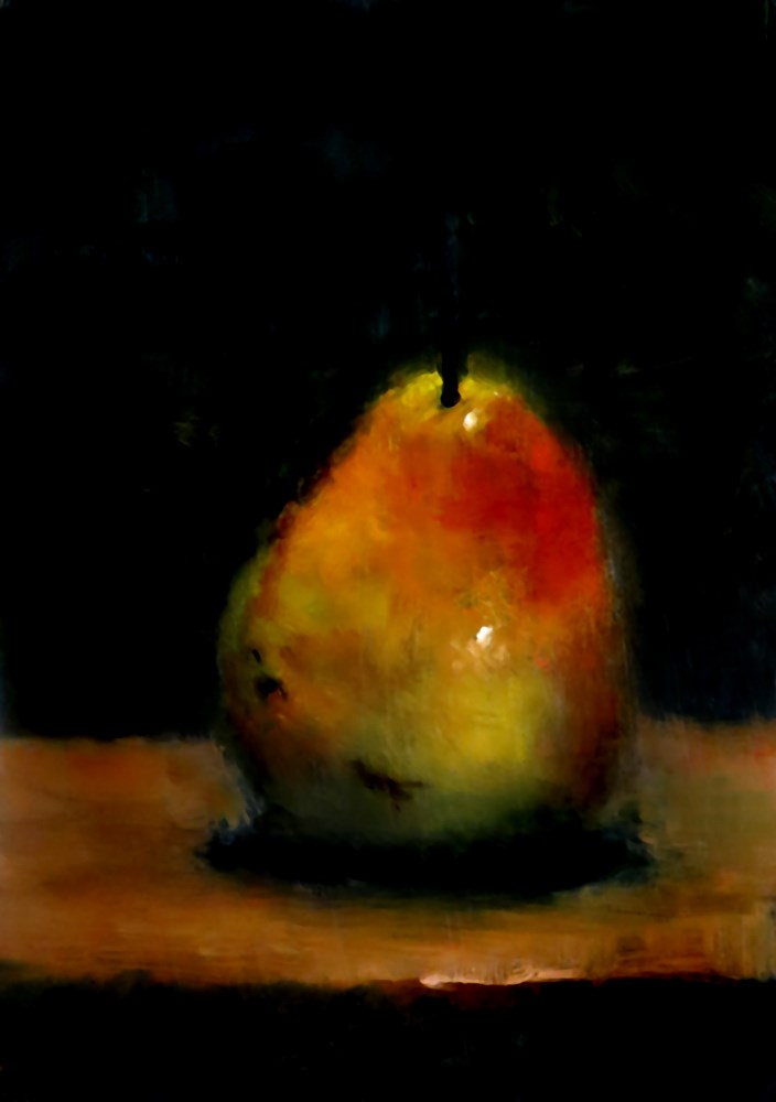 """Juicy Pear"" original fine art by Bob Kimball"