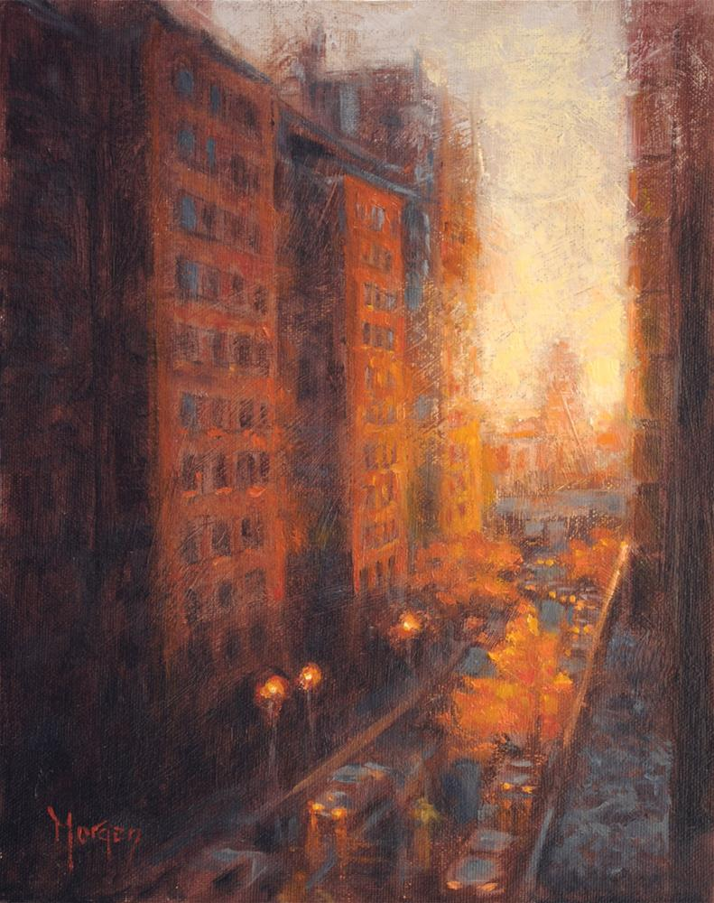 """63rd Street"" original fine art by Cecile W. Morgan"