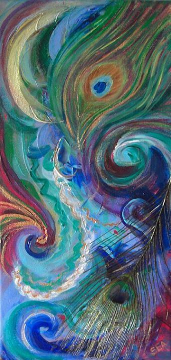"""2016 - Juno's Dream - Essence Painting"" original fine art by Sea Dean"