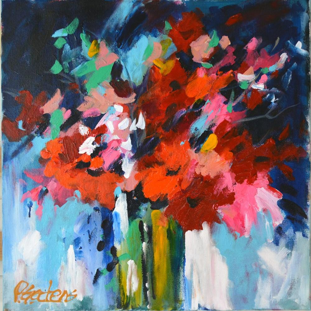 """""""Red Modern"""" original fine art by Pamela Gatens"""