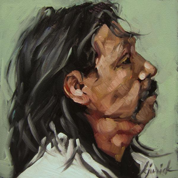 """100 Faces, No. 56"" original fine art by Karin Jurick"