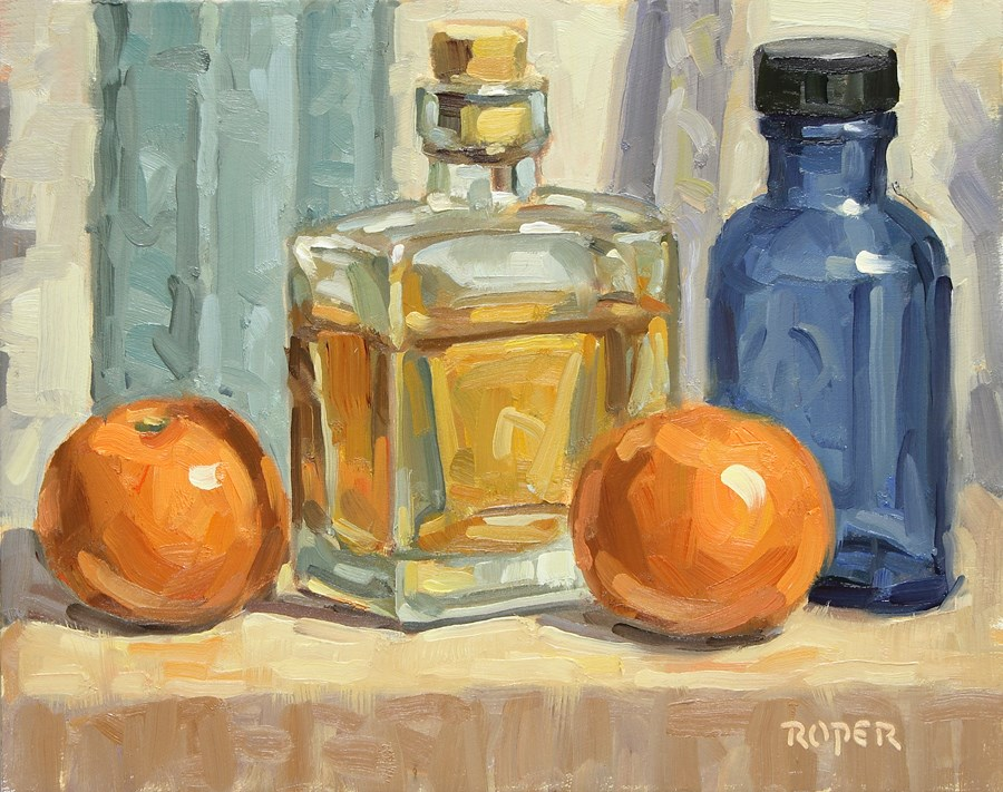"""DAY 2 -  Old Studio Bottles"" original fine art by Stuart Roper"