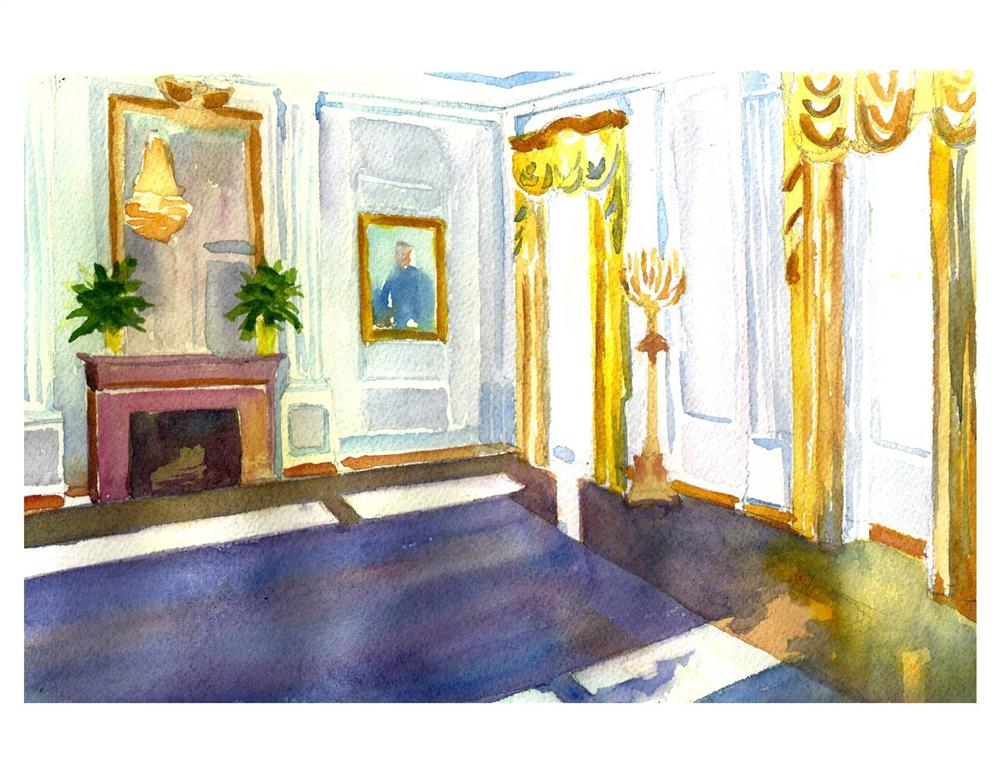 """White House Interior"" original fine art by Suzanne Woodward"