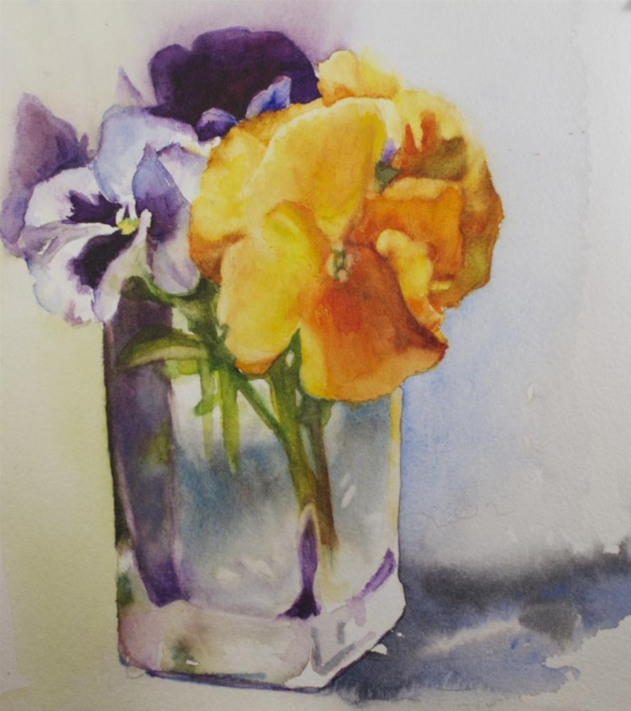 """Orange Pansy Study"" original fine art by Sue Churchgrant"