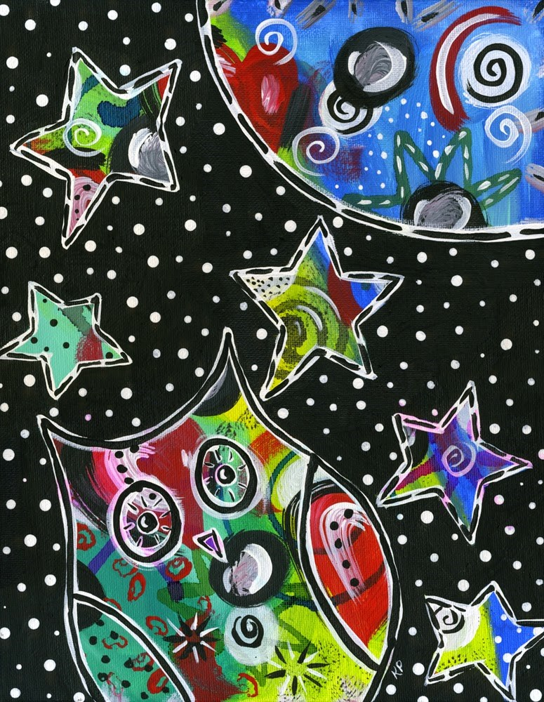 """Up All Night"" original fine art by Kali Parsons"