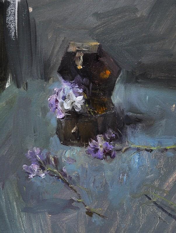 """treasure box"" original fine art by Taisia Kuklina"