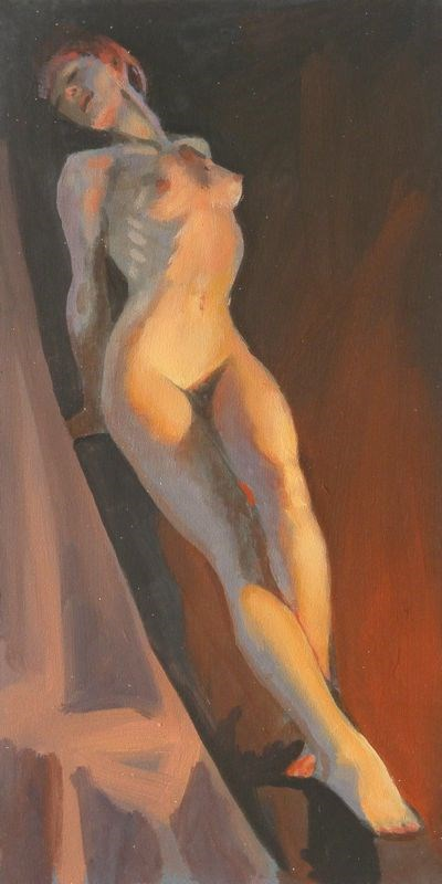 """Diagonal pose"" original fine art by Peter Orrock"