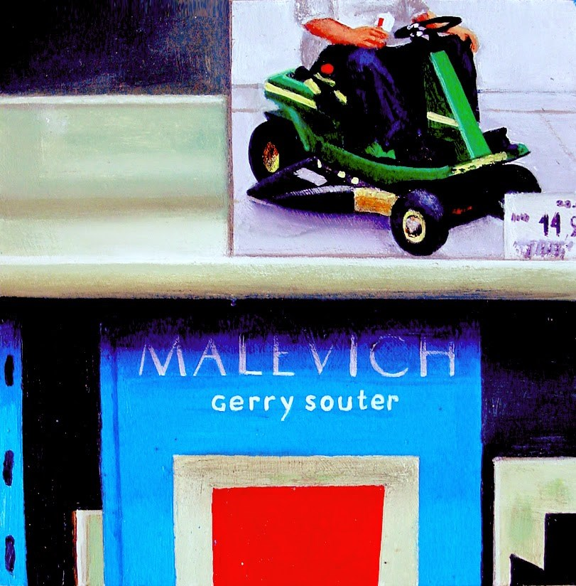 """Malevich Books- Painting Of Books On Artists Duane Hanson And Malevich"" original fine art by Gerard Boersma"