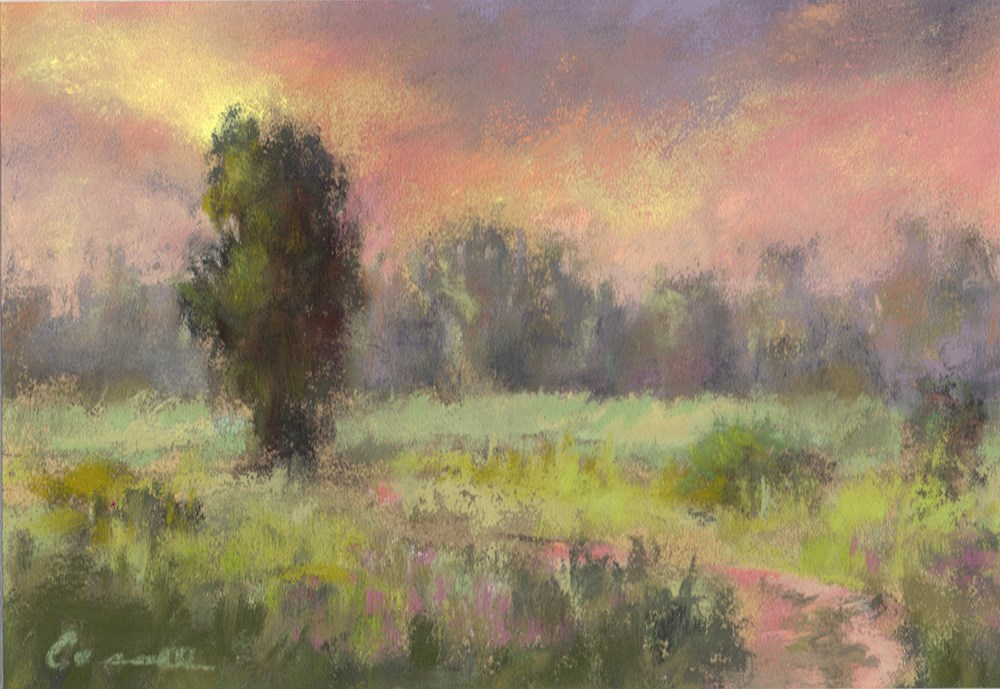 """Evening Path"" original fine art by Sherri Cassell"
