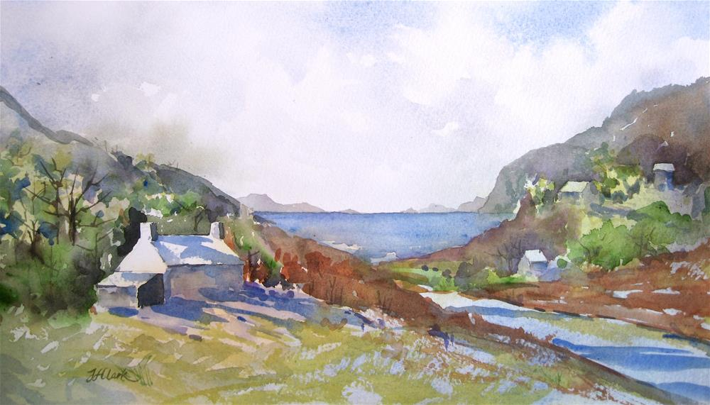 """On the Banks of Loch Linnhe"" original fine art by Judith Freeman Clark"