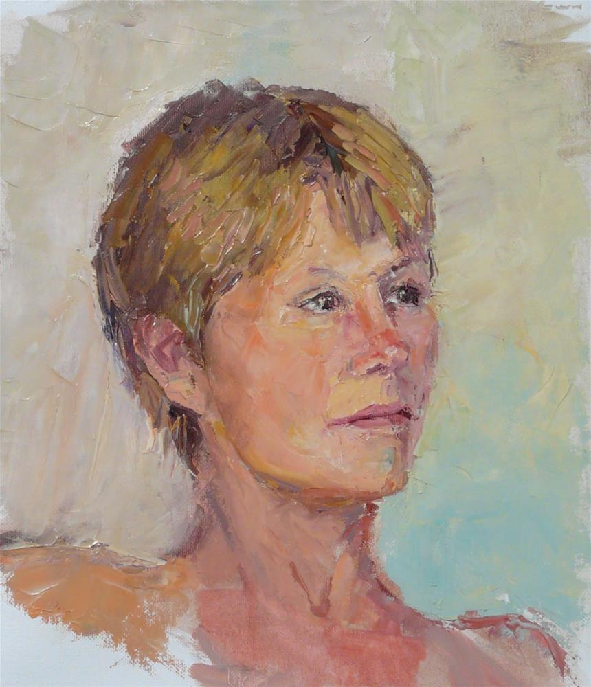 """Ros,portrait,oil on canvas,14x12,priceNFS"" original fine art by Joy Olney"