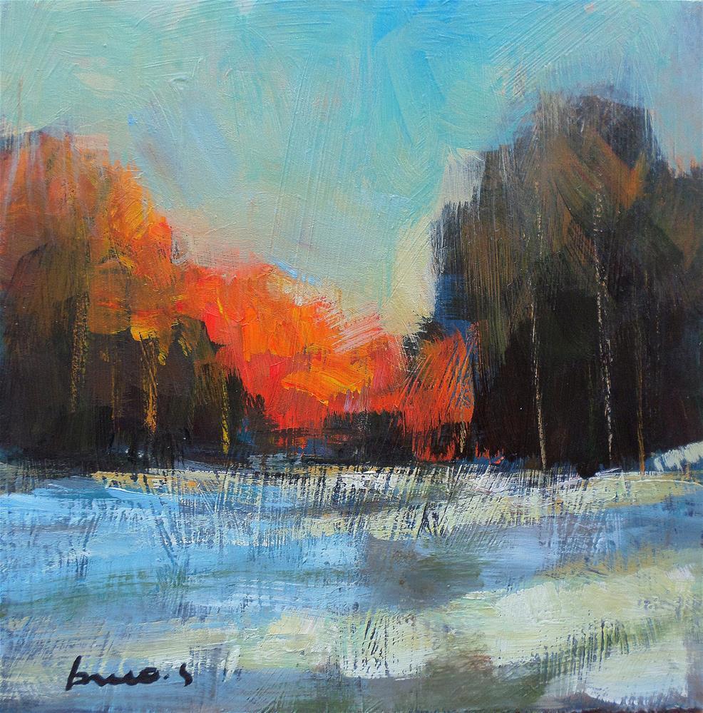"""""""Snow in field"""" original fine art by salvatore greco"""