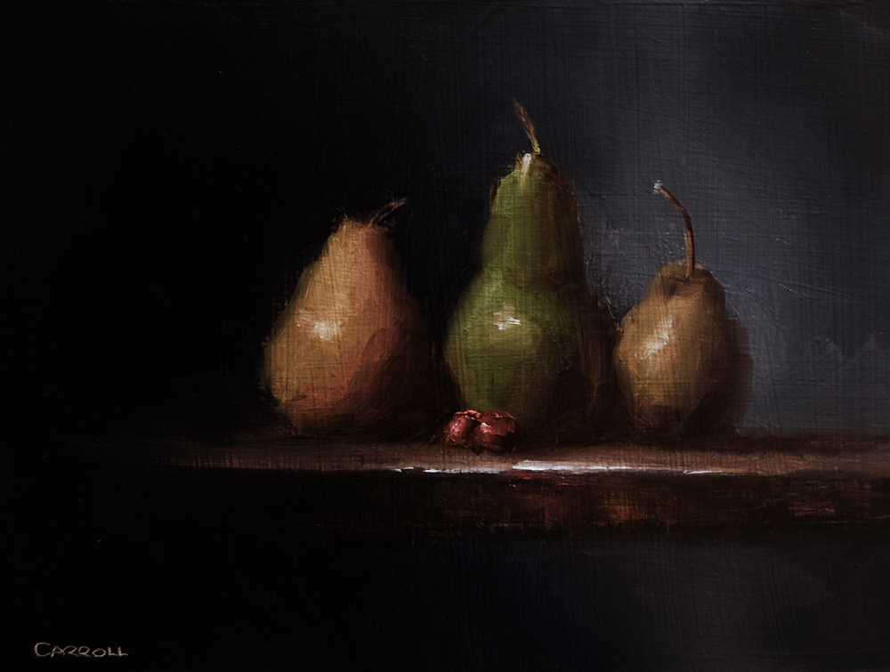 """Three Pears"" original fine art by Neil Carroll"