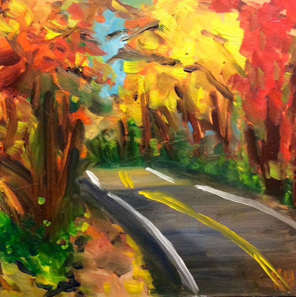 """Autumn Road #2"" original fine art by Katherine Hambley"