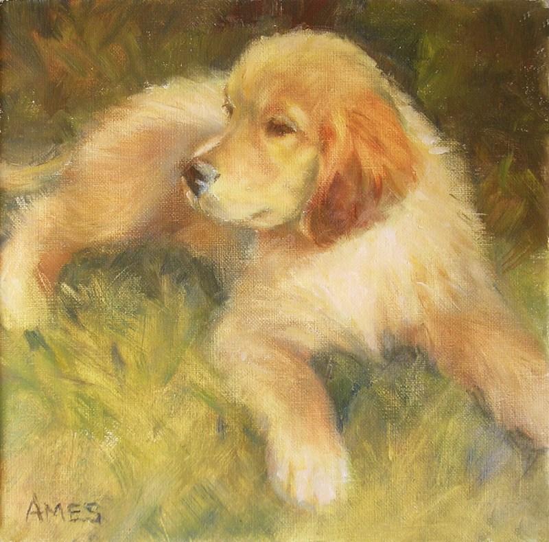 """""""Taking A Break"""" original fine art by Debra Ames"""