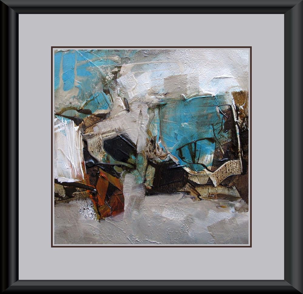 """TRUE BLUE Original ABSTRACT PAINTING Art 4X4 Painting OIL"" original fine art by Colette Davis"
