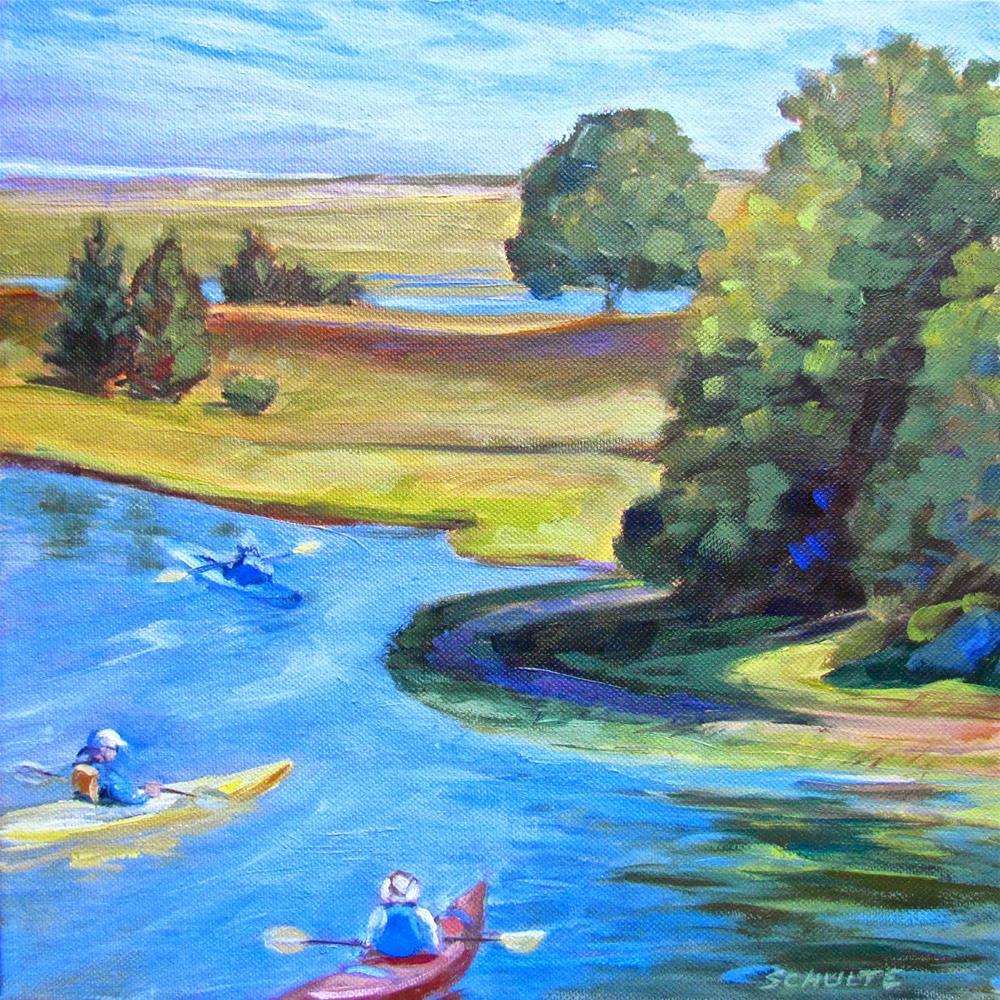 """Ready to Paddle Out"" original fine art by Lynne Schulte"