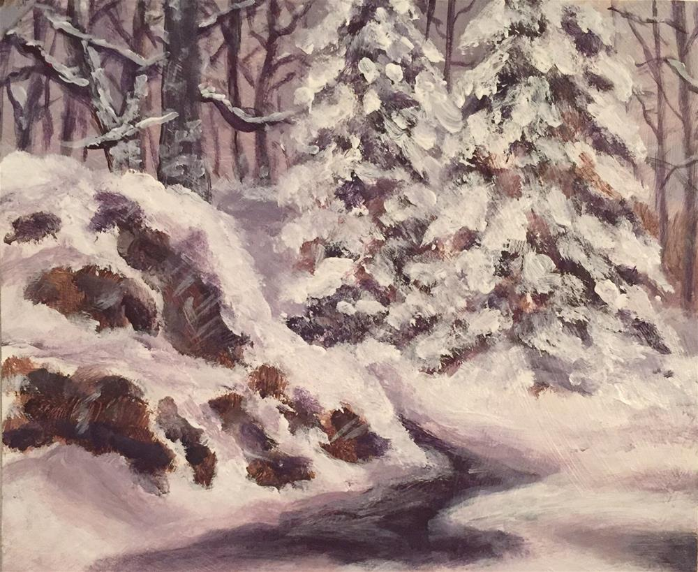 """Winter Trees"" original fine art by Melissa Gresham"