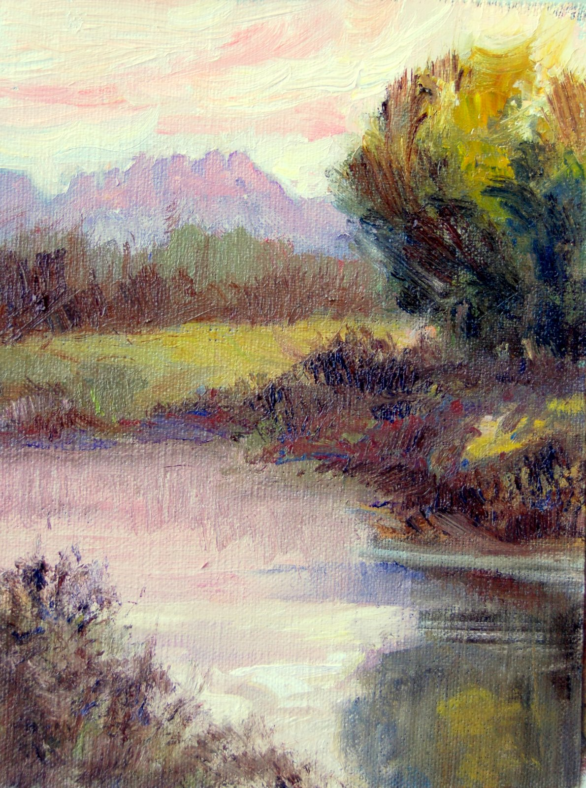 """Early Evening Glow"" original fine art by Julie Ford Oliver"