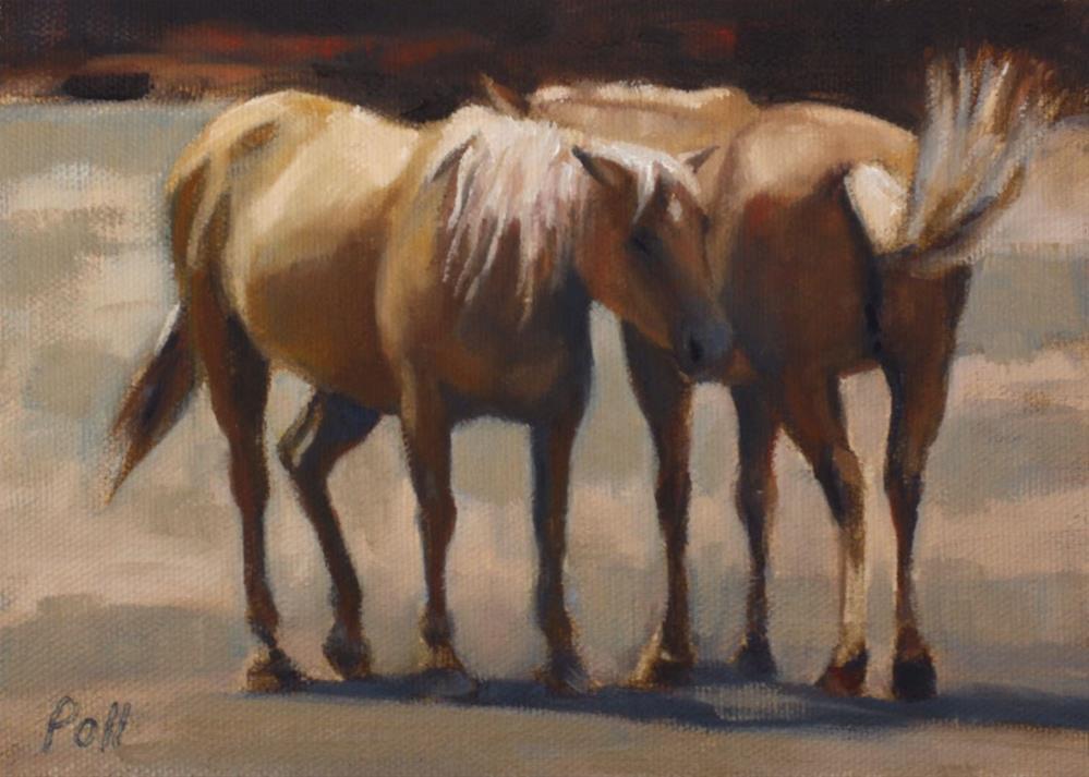 """Siesta (framed)"" original fine art by Pamela Poll"